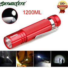 Sky Wolf Eye 1200LM Waterproof Cree LED 14500 Zoomable Lamp Flashlight RD a