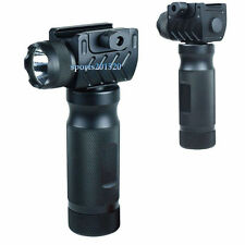 Tactical Foregrip Vertical Grip High Power CREE LED Flashlight Rail Mount 49