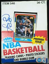 Larry Bird Signed Autographed 1986 Fleer Box Rare JSA Authenticated #2