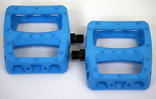 ODYSSEY BMX PC OCEAN BLUE TWISTED PLASTIC  PEDALS - BMX BIKE - FREE POST -