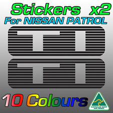 Nissan Patrol TI stickers decals for GU model   ***Premium quality***