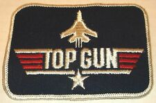 """TOP GUN PATCH movie promo US NAVY FIGHTER PILOT 3""""x4"""" military costume NOS mint"""