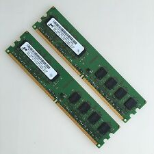 Micron 4GB 2x2GB PC2-6400U DDR2 800 MHZ 2Rx8 RAM Low-Density memory DIMM Desktop
