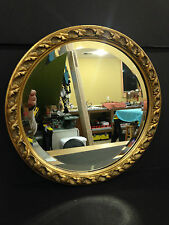 Ornate Beveled Glass Hanging Mirror 14 inches