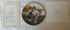 """NEW """"Grandpa's Fence"""" Grandparents Day 1993 Donald Zolan Collector Plate COA"""
