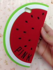 For iPhone 6 / 6S - SOFT SILICONE RUBBER SKIN CASE COVER RED WATERMELON FRUIT