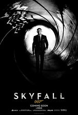 007 Skyfall James Bond Daniel Craig Huge Silk Poster 24x36 inches