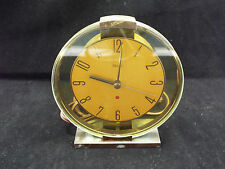 Vintage Art Deco Westvlox Oracle Electric Clock- Brass & Glass