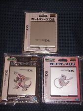 Pokemon Mew Palkia Nintendo DS/GBA Game Card Case Storage Holder x3 SET JAPAN FS