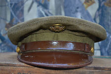 WWII US Army Air Corps Visor Hat Cap WW1 vintage antique old war military estate