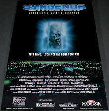 SYNGENOR 1990 ORIGINAL 25x38 VIDEO RELEASE MOVIE POSTER! SCI-FI MONSTER HORROR!