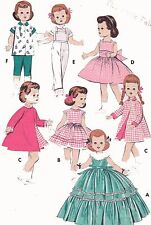 Vintage Doll Clothes PATTERN 7973 for 22-23 Saucy Walker Bonny Braids by Ideal