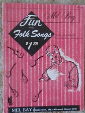 Mel Bay Fun With Folk Songs with Chords for All Instruments  - Music Book
