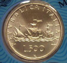 ITALIA REPUBBLICA 1968 500 LIRE CARAVELLE FDC PROVENIENTE DA SERIE ZECCA