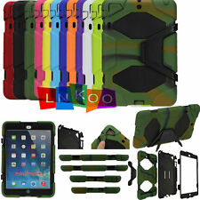 Waterproof/Dirt/Shockproof Stand Case Cover For iPad2/3/4 iPad Air1/2  Mini1/2/3