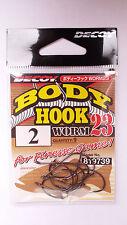 Decoy Body Hook Worm 23  Drop Shot Wacky Rig Size #2