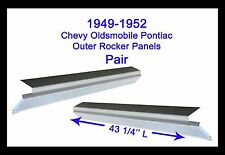 1949 1950 1951 1952 CHEVY OLDSMOBILE PONTIAC ROCKER PANELS 2DR  NEW PAIR