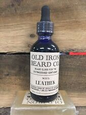 """Old Iron Co. """"Leather"""" beard oil - all natural, handmade in the USA! - 1oz"""