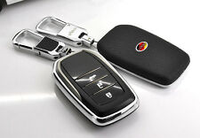 Leather Key Cover Shell Fit For Toyota Pardo Carola Camry RAV4 smart key case