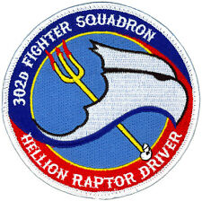 USAF 302nd FIGHTER SQUADRON - HELLION RAPTOR DRIVER - PATCH