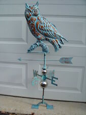 Owl Weathervane Hand Crafted Weather Vane Very Detailed Antiqued Patina