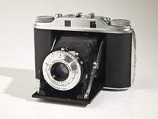 Agfa Isolette III 6x6cm - Apotar 4.5 / 85mm - working - leather bellows - exc.+