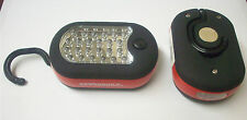 (2) Powerbuilt 2 Way LED Worklight Flashlight w/ Back Magnet 27 Super Bright LED