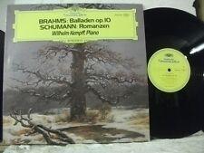 2530 321 BRAHMS 4 Ballads SCHUMANN Romanzen WILHELM KEMPFF Piano DG STEREO 1973