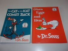 Dr. Seuss Cat in the Hat Comes Back Green Eggs and Ham 2 Hardcover Books