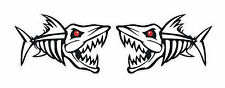 2 FISH SKELETON DECALS STICKERS MEAN G LOOMIS TYPE FISHING ANGLING BAIT LURES