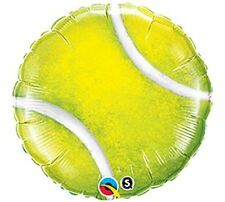 "Tennis Ball 18"" Foil Balloon Double Sided 3 Pack Helium. Fast Shipping!"