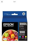 *NEW* Genuine Epson 200XL Black + 200 Cyan/Yellow/Magenta Multipack - Retail Box
