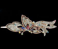 new jewelry rhinestone barrette hair long clip comb butterfly crystal claw gift