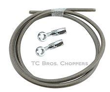 Stainless Braided Brake Line Kit chopper bobber xs650 cb750 hardtail brakeline