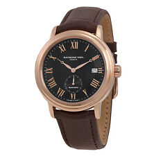 Raymond Weil Maestro Automatic Grey Dial Brown Leather Mens Watch 2838-PC5-00209