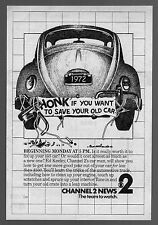 1983 KNXT tv ad ~ Car Man ED KEELEY/1972 Volkswagon/Want To Save Your Old Car ?