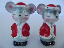Vintage anthropomorphic Mouse  Salt and Pepper Shakers Japan