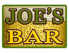 Personalized BAR and GRILL Sign Printed with YOUR NAME Custom METAL Sign BAR