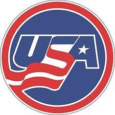 "Team USA NHL Hockey  bumper sticker 5"" x 5"""