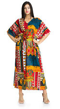 Women's Caftan Dress Dashiki Kaftan Vintage Boho Maxi Gown Beach Cover Plus size