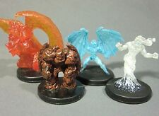 Dungeons & Dragons Miniatures Lot  Fire Mephit Air Mephit Earth !!  s85