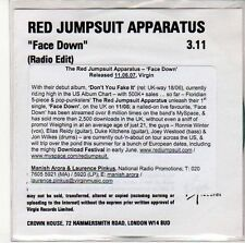 (ED417) Red Jumpsuit Apparatus, Face Down - 2007 DJ CD