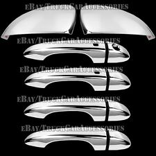 Chrome Covers 4 Door Handles w/SMK Full Mirrors For 15 2015 16 2106 CHRYSLER 200