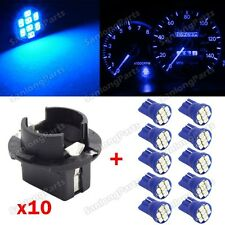 10 T10 Blue PC194 LED Bulb Instrument Panel Cluster Dash Light Twist Lock Socket