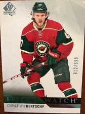 2015-16 UD SP Authentic Hockey Future Watch Christoph Bertschy 912/999 Rookie