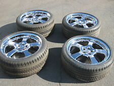 "4 GENUINE LORINSER LM5 20"" WHEELS RIMS TIRES ALL MERCEDES BENZ CHROME 2 PIECE"