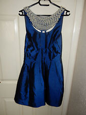 XENIA Breakfast at Tiffanys Blue Bubble Princess Polly Vintage Cocktail Dress 10