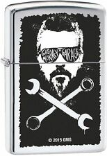 Zippo Windproof Gas Monkey Garage Lighter, Polished Chrome, 29056, New In Box