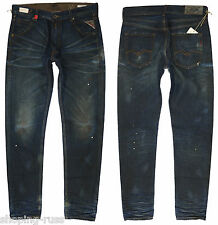 RRP € 239 NEW REPLAY GEEBO  W-30 L-34 TAPERED JEANS MADE IN ITALY