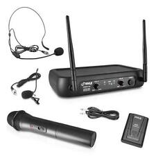 Pyle PDWM2140 VHF Fixed Frequency Wireless Microphone System, Handheld Mic
